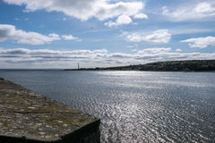 Berwick upon Tweed river mouth Royalty Free Stock Image