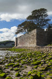 Berwick upon Tweed Walls. The old fortifications in Berwick upon Tweed, Northumberland, England, from the beach in the estuary of the River Tweed Royalty Free Stock Photography