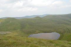 Berwyn山nr Pistyll Rhaeadr 免版税库存照片