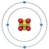 Beryllium atom on white background Stock Photography