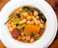 Berza Gaditana stew (Cadiz Cabbage). Stock Images
