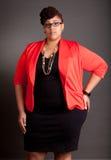 Überzeugt reifen Sie plus Größen-Geschäftsfrauen Stockfoto