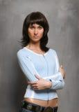 Überzeugte reizvolle schöne Frau Lizenzfreies Stockfoto