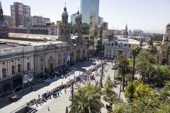 Besök för påve Francis av Chile royaltyfri foto