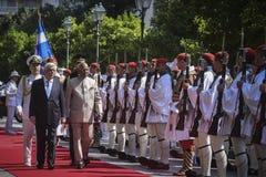 Besök för president Ram Nath Kovind för Indien ` s i Grekland arkivfoton