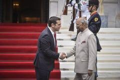 Besök för president Ram Nath Kovind för Indien ` s i Grekland royaltyfri foto