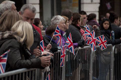 Besök för prins Charles till Bedford UK Arkivfoto