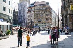 Besök landmarks för folk i Wien royaltyfria foton