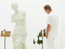 Besök på konstmusemet Arkivbilder