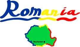 Besök Rumänien för ferie vektor illustrationer