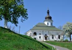 Besök till kloster Arkivbild