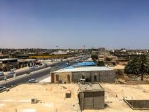 Besök till Misrata i Libyen i 2016 royaltyfria bilder