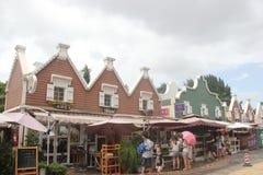 Besöka blommamarknaden av turister i shenzhen,chinaï ¼ ŒAsia Royaltyfri Bild