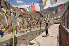 Besöka en helig relikskrin i Leh Ladakh Arkivbilder