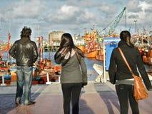 Besöka hamnen Fotografering för Bildbyråer