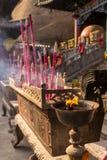 Besöka kinesisk buddistisk tample Arkivfoton