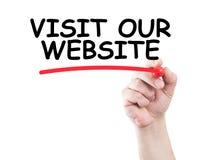 Besöka vår website Royaltyfria Foton