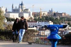 Besökare i Madird Spanien Royaltyfria Foton
