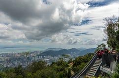 Besökare på den Penang kullen Arkivbilder