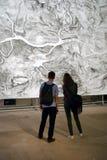 Besökare på den 6th Moskva Biennale av samtida konst Royaltyfri Fotografi