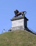 Besökare på lejons kulle, Waterloo, Belgien royaltyfri bild