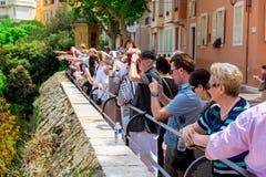 Besökare på prins slott av Monaco Fotografering för Bildbyråer