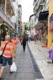 Besökare som shoppar och gör sight i Macao Fotografering för Bildbyråer