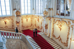 Besökare till Jordan Staircase Hermitage Arkivbilder