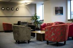 Besökarekorridor, modern design. fotografering för bildbyråer