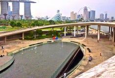 Besökaremitt, Marina Barrage, Singapore Royaltyfri Foto