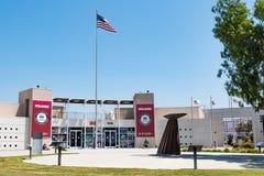 Besökaremitt och borggård på elitidrottsman nen Training Center Arkivbild