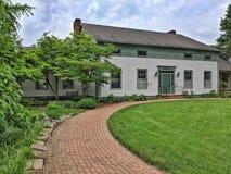 Besökaremitt Roscoe Village Coshocton, Ohio fotografering för bildbyråer