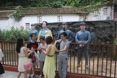 Besökarna till den Parkï för röd armé ¼en Œshenzhen, porslin Royaltyfria Foton
