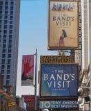 Besöket för musikband` s på Broadway Arkivbilder