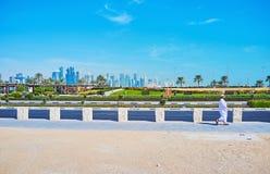 Besöket parkerar av Doha, Qatar Royaltyfri Foto