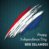 BES islands Independence Day Patriotic Design. Stock Photography
