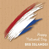 BES islands Independence Day Patriotic Design. Royalty Free Stock Photography