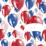 BES islands Independence Day Seamless Pattern. Stock Photo