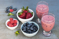 Bes smoothies Stock Foto