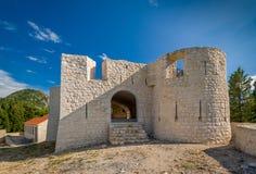 Besac middeleeuws kasteel royalty-vrije stock foto