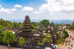 Besakih Pura Penataran Agung complessa, Bali, Indonesia Fotografia Stock Libera da Diritti