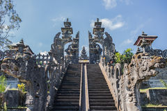 Besakih Temple. The oldest temple in Bali , Indonesia stock photos