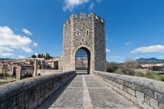Besalï ¿ ½ Spanien, ein katalanisches Dorf Lizenzfreies Stockfoto