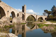 besal каталонское село Испании Стоковая Фотография