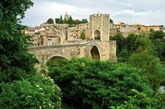 Besalu. Medieval village, Catalonia, Spain Royalty Free Stock Photos