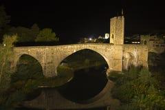 Besalu Brücke stockbild