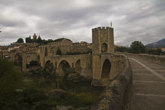 Besalu Bridge Royalty Free Stock Images