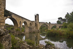Besalu Bridge Royalty Free Stock Photography