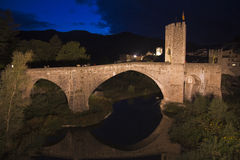 Besalu Bridge Royalty Free Stock Photo