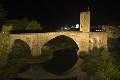 Besalu Bridge Stock Image